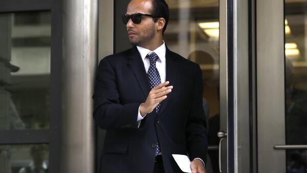 Former Donald Trump presidential campaign foreign policy adviser George Papadopoulos leaves federal court after he was sentenced to 14 days in prison. - Sputnik International