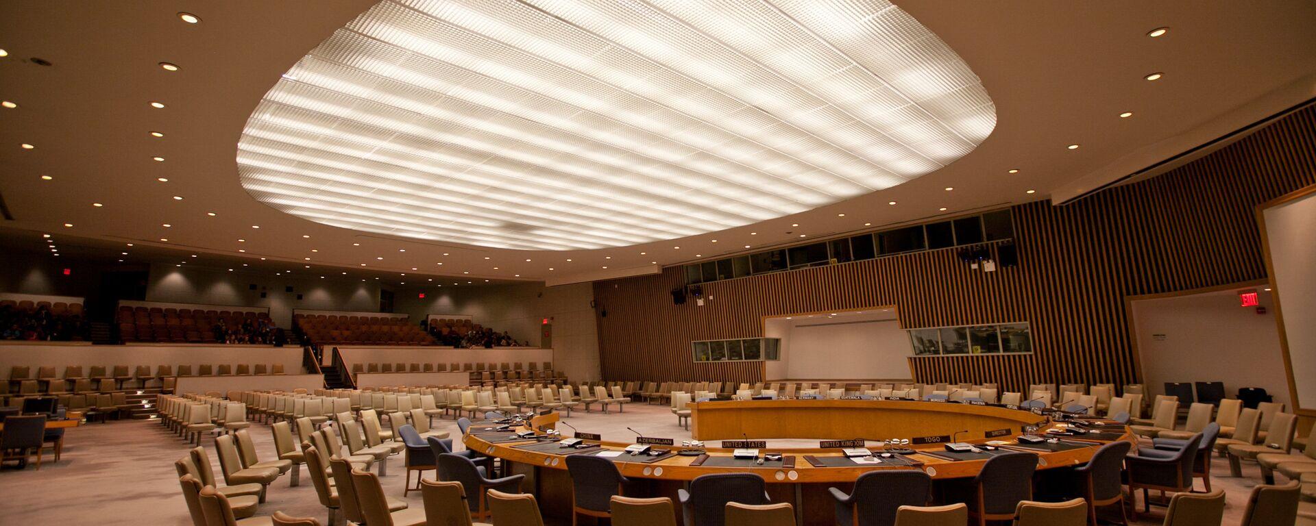 UN Security Council chamber (File photo). - Sputnik International, 1920