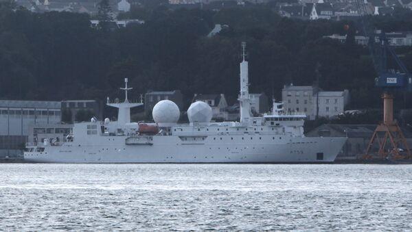 Dupuy-de-Lôme Electronic Intelligence Ship in the Port of Brest - Sputnik International