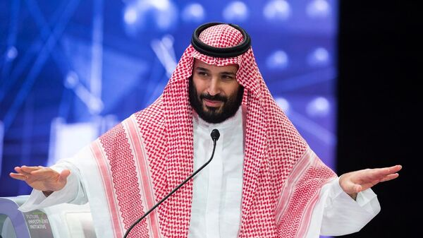 In this photo released by the Saudi Press Agency SPA, Saudi Crown Prince Mohammed bin Salman addresses the Future Investment Initiative conference in Riyadh, Saudi Arabia, 24 October 2018 - Sputnik International