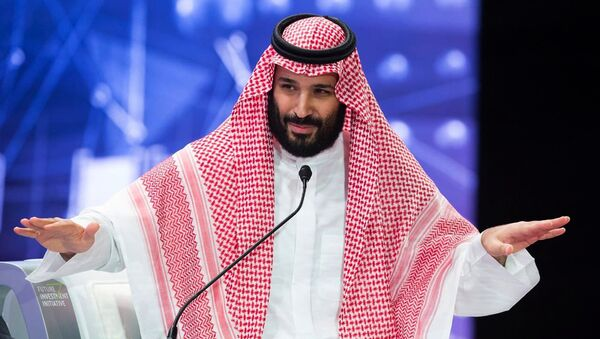 In this photo released by Saudi Press Agency, SPA, Saudi Crown Prince, Mohammed bin Salman addresses the Future Investment Initiative conference, in Riyadh, Saudi Arabia, Wednesday, Oct. 24, 2018 - Sputnik International