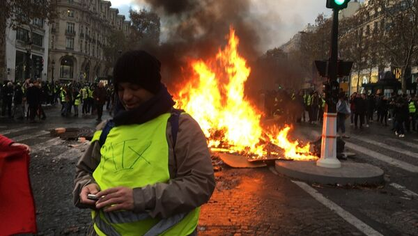 Yellow Vests protests against the rise in fuel prices in the French capital of Paris. File photo - Sputnik International
