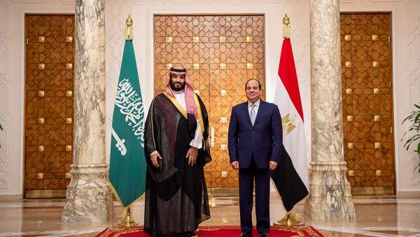 Saudi Arabia's Crown Prince Mohammed bin Salman stands next to Egyptian President Abdel Fattah al-Sisi at the Presidential Palace in Cairo, Egypt November 27, 2018 - Sputnik International