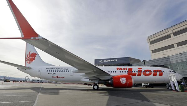 This March 21, 2018, file photo shows Boeing's first 737 MAX 9 jet at the company's delivery center before a ceremony transferring ownership to Thai Lion Air in Seattle - Sputnik International
