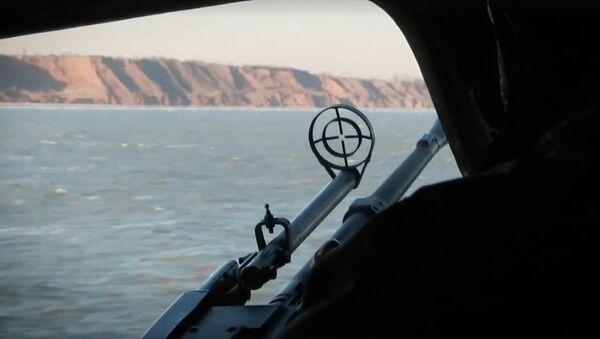 Still from video of Ukrainian Azov Sea drills. - Sputnik International