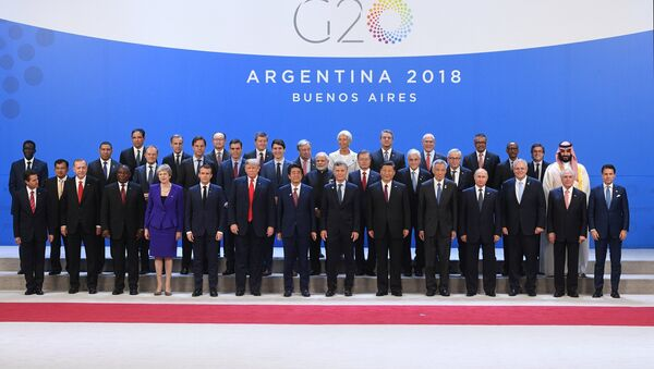 G20 leaders pose for a family photo during the G20 summit in Buenos Aires, Argentina November 30, 2018. - Sputnik International