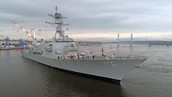 USS Thomas Hudner during acceptance trials. - Sputnik International