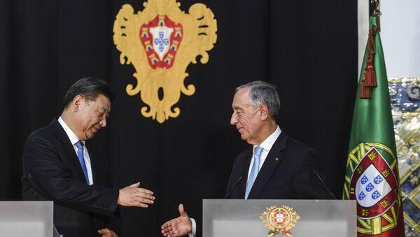China's President Xi Jinping and Portugal's President Marcelo Rebelo de Sousa - Sputnik International