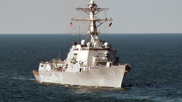 The guided-missile destroyer USS Jason Dunham (DDG 109) operates in the Black Sea during Exercise Sea Breeze 2012 - Sputnik International