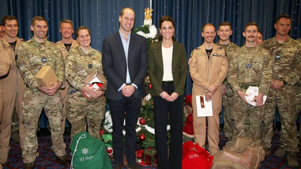 Britain's Prince William and Catherine, The Duchess of Cambridge, attend a party for service personnel at RAF Akrotiri, Cyprus December 5, 2018 - Sputnik International