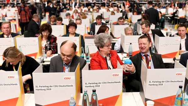 Christian Democratic Union party congress in Hamburg - Sputnik International