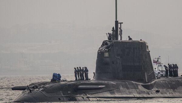 In this Wednesday July 20, 2016, British Royal Navy submarine HMS Ambush's arrives into the Naval Base at Gibraltar. A British Royal Navy submarine has been forced into port after colliding with a merchant vessel off the coast of Gibraltar - Sputnik International