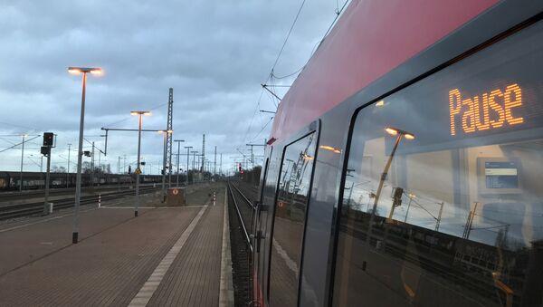 A train sits in the empty station in Nauen, west of Berlin, Germany, Monday, Dec. 10, 2018 - Sputnik International