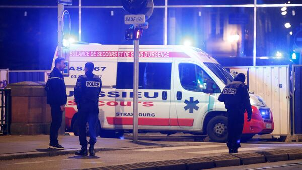Police secure a street and the surrounding area after a shooting in Strasbourg - Sputnik International