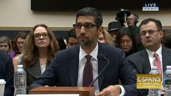 Google CEO Sundar Pinchai testifies before the U.S. Congress December 11, 2018. - Sputnik International