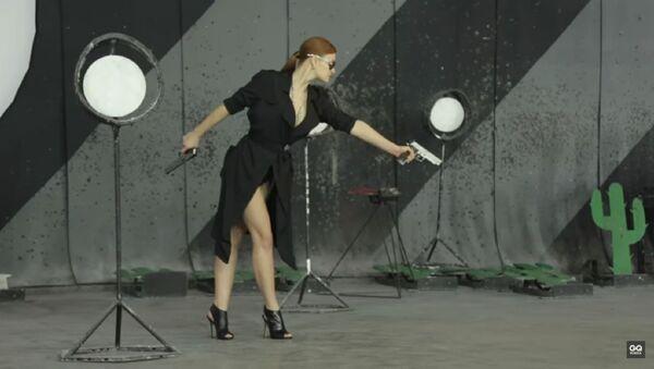 Mariia Butina as seen in a 2014 photo shoot for Russia's GQ magazine. - Sputnik International