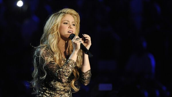 Shakira performs on stage at the Billboard Music Awards at the MGM Grand Garden Arena on Sunday, May 18, 2014, in Las Vegas. - Sputnik International