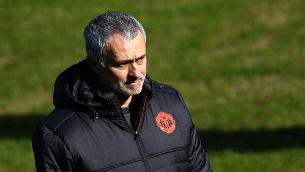 Manchester United head coach Jose Mourinho during a training session ahead of the UEFA Europa League last 16 match between Manchester United and Rostov, Rostov-on-Don. - Sputnik International