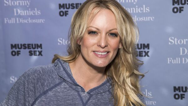 Adult film actress Stormy Daniels attends a book signing for her memoir Full Disclosure at the Museum of Sex on Monday, Oct. 8, 2018 - Sputnik International