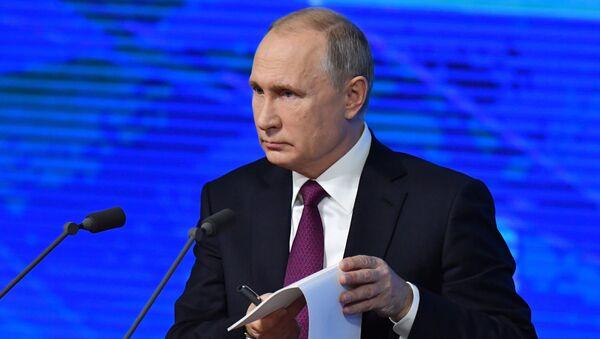 Annual big press conference of the Russian President V. Putin - Sputnik International