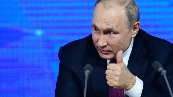 Vladimir Putin at annual year-end presser - Sputnik International