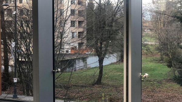 The concrete wall across the street looks like a body of water - Sputnik International