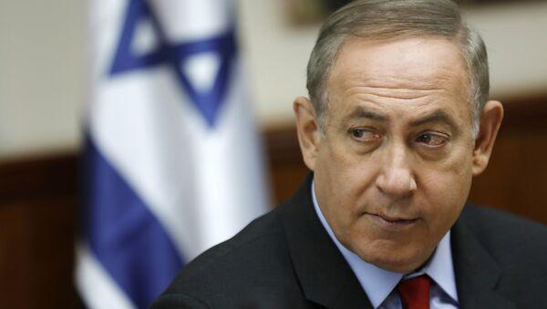 Israeli Prime Minister Benjamin Netanyahu attends a cabinet meeting - Sputnik International