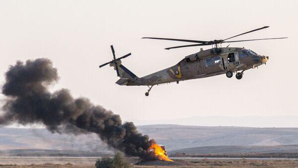 Israeli UH-60 Black Hawk helicopter - Sputnik International