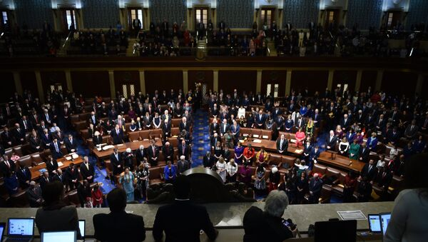 Members of Congress arrive before the start of the 116th Congress and swearing-in ceremony on the floor of the US House of Representatives at the US Capitol on January 3, 2019 in Washington,DC. - Sputnik International