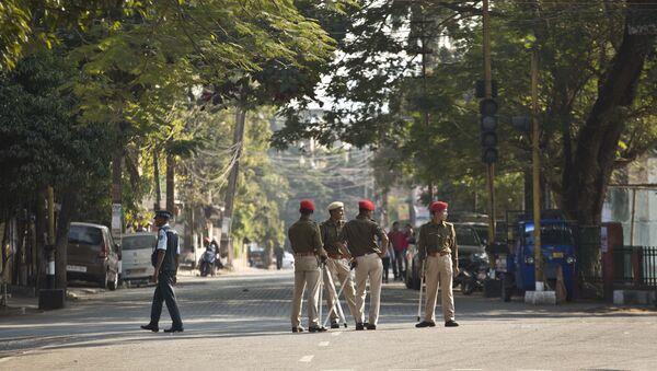 Indian police officials  - Sputnik International