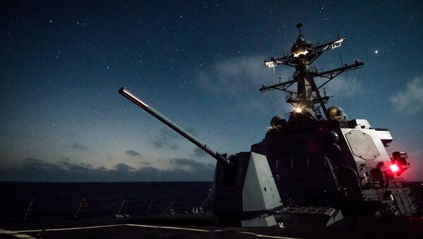 USS Dewey and the Mk 45 deck gun - Sputnik International