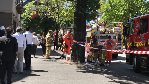Hazmat and fire crews are seen outside the Indian and French Consulates on St Kilda Road in Melbourne, Australia, January 9, 2019 - Sputnik International