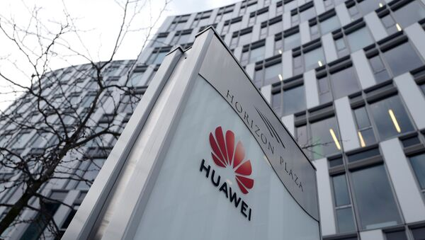 Logo of Huawei is seen in front of the local offices of Huawei in Warsaw, Poland January 11, 2019 - Sputnik International
