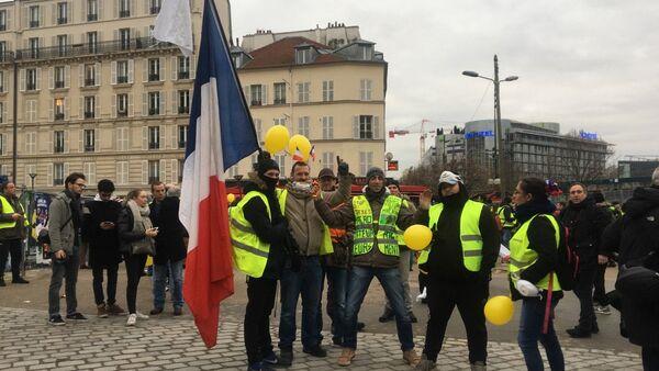 Acte 9: Gilets jaunes à Paris le 12 janvier 2019 - Sputnik International