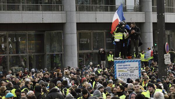 Yellow Vests protest in Paris. 12 January - Sputnik International