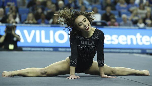 Katelyn Ohashi of UCLA during an NCAA college gymnastics match, Friday, Jan. 4, 2019, in Los Angeles. - Sputnik International