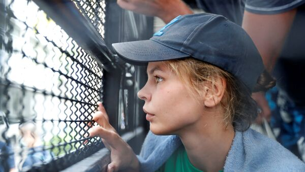Anastasia Vashukevich, a Belarusian model and escort who caused a stir last year after she was arrested in Thailand and said she had evidence of Russian interference in the 2016 U.S. presidential election, is pictured at the immigration detention center before being deported in Bangkok, Thailand, January 17, 2019 - Sputnik International