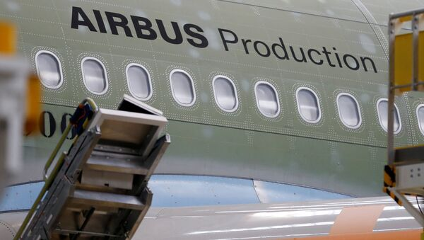An Airbus A330neo is pictured on its final assembly line at Airbus headquarters in Colomiers, near Toulouse, France, November 26, 2018 - Sputnik International