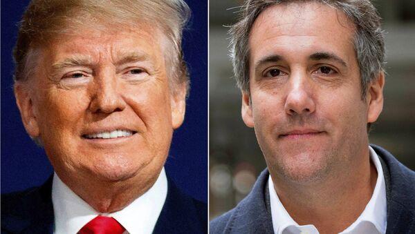 This combination photo shows President Donald Trump and attorney Michael Cohen. - Sputnik International