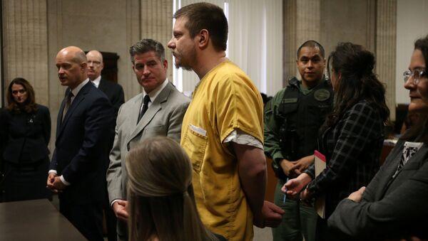 Former Chicago police Officer Jason Van Dyke stands during his sentencing hearing at the Leighton Criminal Court Building in Chicago - Sputnik International