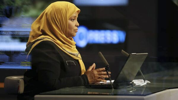 This undated photo provided by Iranian state television's English-language service, Press TV, shows its American-born news anchor Marzieh Hashemi - Sputnik International