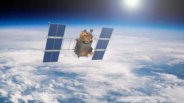 Artist's rendering of a Russian Canopus-B satellite in Earth orbit. - Sputnik International