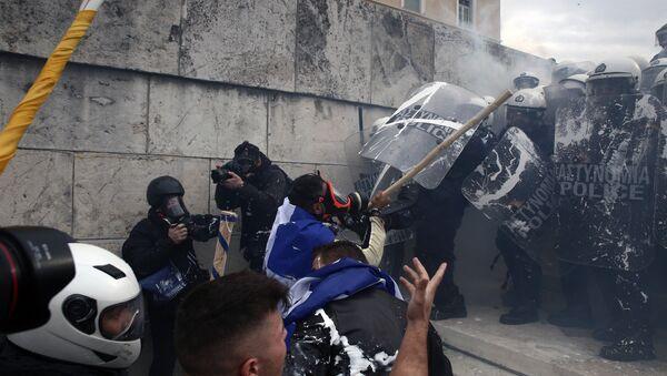 Protests in Athens - Sputnik International