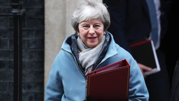 Britain's Prime Minister Theresa May leaves Downing Street in London, Britain, January 21, 2019 - Sputnik International