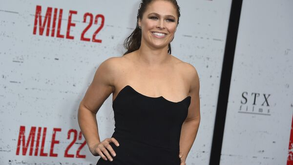 Ronda Rousey arrives at the Los Angeles premiere of Mile 22 on Thursday, Aug. 9, 2018, in Los Angeles - Sputnik International