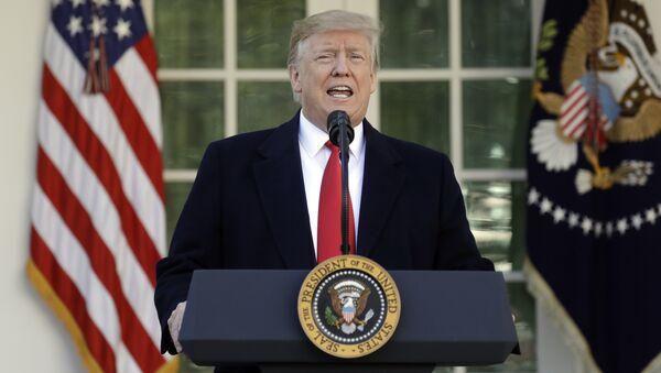 President Donald Trump speaks in the Rose Garden of the White House, Friday, Jan 25, 2019, in Washington. - Sputnik International