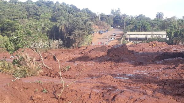 The aftermath of a dam collapse at an iron ore mine owned by Vale SA in Brazil. - Sputnik International