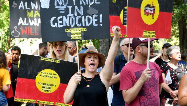 Protestors take part in an Invasion Day Rally in Sydney, Australia January 26, 2019 - Sputnik International