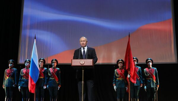 President Putin attends events marking 75th anniversary of breaking Nazi siege of Leningrad. - Sputnik International