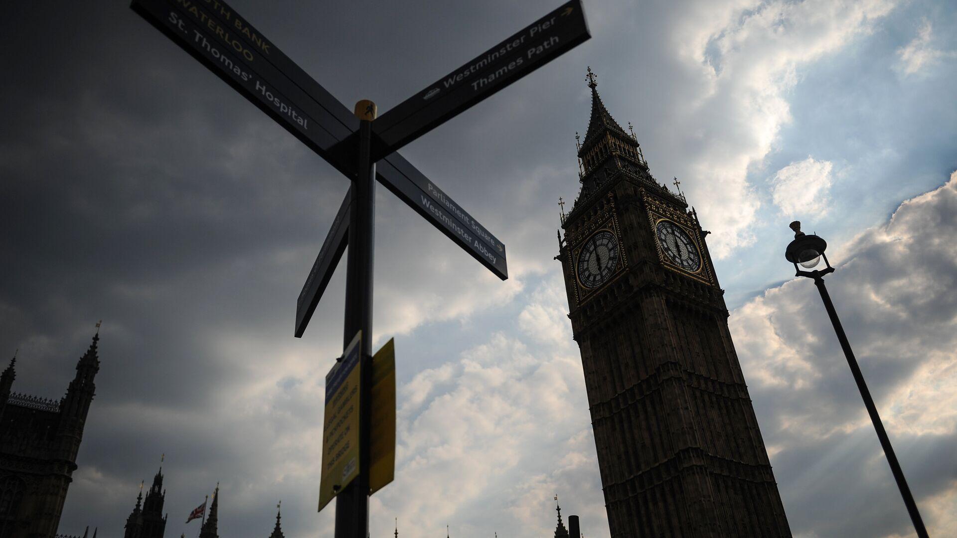 Big Big clock tower of Westminster Palace. - Sputnik International, 1920, 27.09.2021